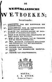 De Nederlandsche wetboeken