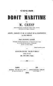 Cours de droit maritime: Volume4