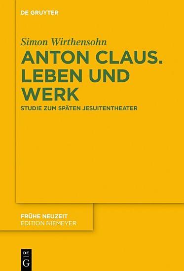 Anton Claus  Leben und Werk PDF