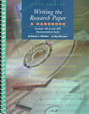 Download Writing the Research Paper Book