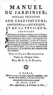 Manuel Du Jardinier