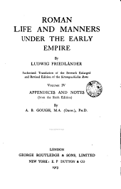 Roman Life and Manners Under the Early Empire: Volume 1