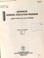 Advanced general education program PDF