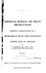 Problems of Fruit Tree Nutrition PDF