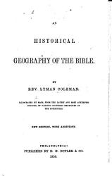An Historical Geography of the Bible PDF