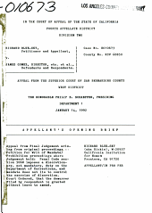 California. Court of Appeal (4th Appellate District). Division 2. Records and Briefs: E010673, Appellant's Opening