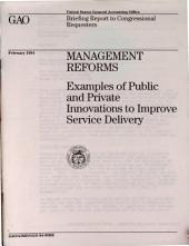 management reforms examples of public and private innovations to improve service delivery