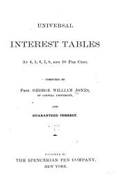 Universal Interest Tables at 4,5,6,7,8, and 10 Per Cent