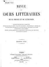 Revue des cours littéraires de la France et de l'étranger: Volume2