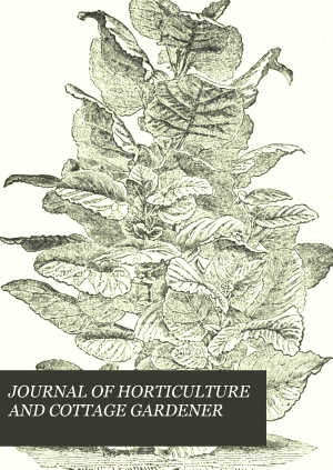 JOURNAL OF HORTICULTURE AND COTTAGE GARDENER