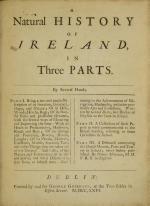 A Natural History of Ireland, in Three Parts