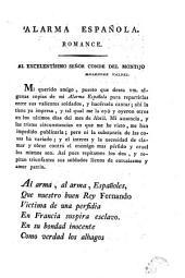 Alarma española: romance