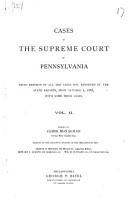 Cases in the Supreme Court of Pennsylvania PDF