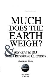 How Much Does the Earth Weigh  PDF