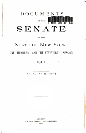 Documents of the Senate of the State of New York: Volume 20