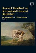 Research Handbook on International Financial Regulation