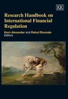 Research Handbook on International Financial Regulation PDF
