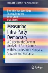 Measuring Intra Party Democracy PDF