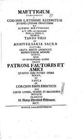 De coronis emblematicis sive certis literis, figuris et imaginibus notatis