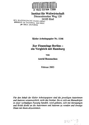 Zur Finanzlage Berlins PDF