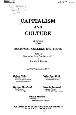 Capitalism and Culture PDF