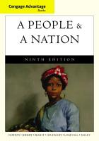 Cengage Advantage Books  A People and a Nation  A History of the United States PDF
