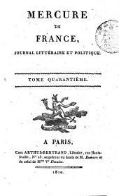 Mercure de France: Volume40