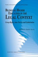 Bilingual Higher Education in the Legal Context PDF