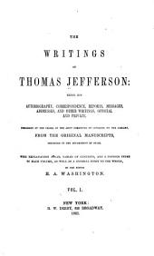 Autobiography, with appendix. Correspondence