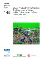 Water productivity in context  the experiences of Taiwan and the Philippines over the past half century PDF