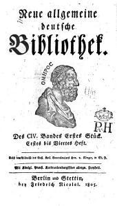 Neue allgemeine deutsche Bibliothek: Band 104