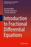 Introduction to Fractional Differential Equations PDF
