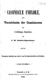 Cassiniaceae uniflorae: Oder Verzeichniss d. Cassiniaceen m. 1-blüthigen Köpfchen