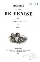 Histoire de la république de Venise: Volumes1à2