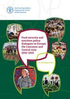 Food security and nutrition policy dialogues in Europe  the Caucasus and Central Asia 2016   2019 PDF