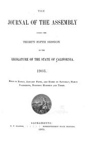 The Journal of the Assembly During the ... Session of the Legislature of the State of California: Volume 35