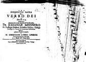 Disquisitio sacra de verbo Dei, ex Ebr. IV, 12