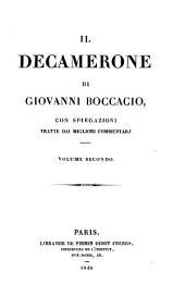 Il Decamerone di Giovanni Boccacio: Volume 2