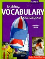 Building Vocabulary  Level 1 Kit PDF