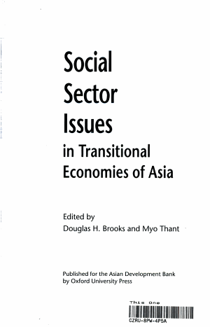 Social Sector Issues in Transitional Economies of Asia PDF