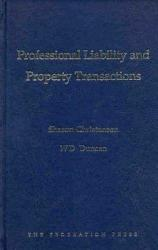 Professional Liability And Property Transactions Book PDF