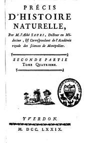Précis d'histoire naturelle: Volume2,Partie4