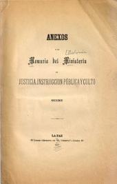 Memoria del Ministerio de Justicia, Instrucción Público y Culto