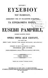 Patrologiae cursus completus: seu bibliotheca universalis ... omnium S. S. patrum, doctorum scriptorumque ecclesiasticorum ... ab aevo apostolico ... ad Photii tempora (ann. 863) ... Series Graeca, Volume 24