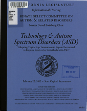 Technology & Autism Spectrum Disorders (ASD)