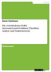 Die verschiedenen Dolby Surround-Sound-Verfahren: Überblick, Analyse und Funktionsweise