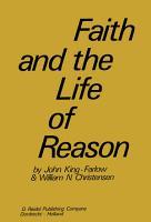 Faith and the Life of Reason PDF