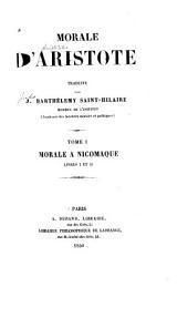 Morale d'Aristote: Volume1