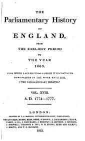 The Parliamentary History of England from the Earliest Period to the Year 1803: Volume 18