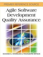Agile Software Development Quality Assurance PDF